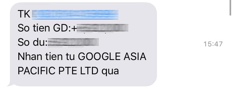 Tin nhắn OTP Techcombank