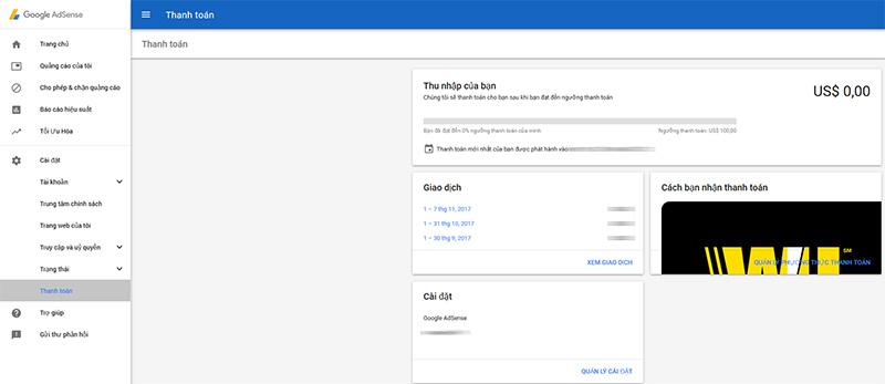 Hướng dẫn nhận tiền Google Adsense trên 4000 USD