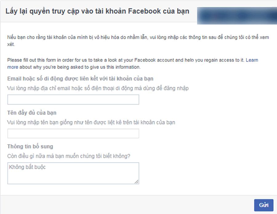 Mở khóa Facebook link 751