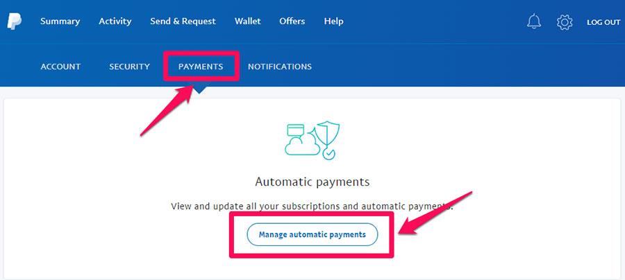 Cách hủy thanh toán tự động Paypal