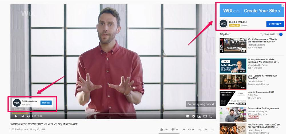 Quảng cáo Google Adsense trên video Youtube
