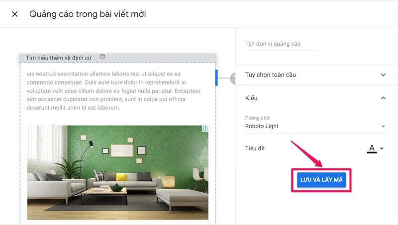 Quảng cáo trong bài viết Google Adsense