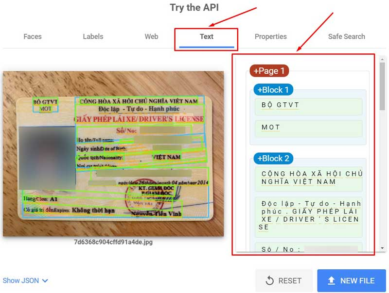 Kiểm tra nhận dạng Text Google Adsense